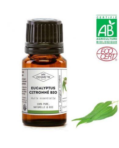 Huile essentielle d'eucalyptus citronné BIO (AB) 10 ml - MyCosmetik