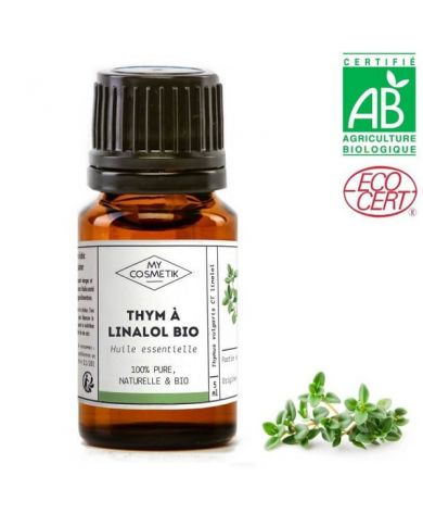 Huile essentielle de thym à linalol BIO (AB) 10 ml - MyCosmetik