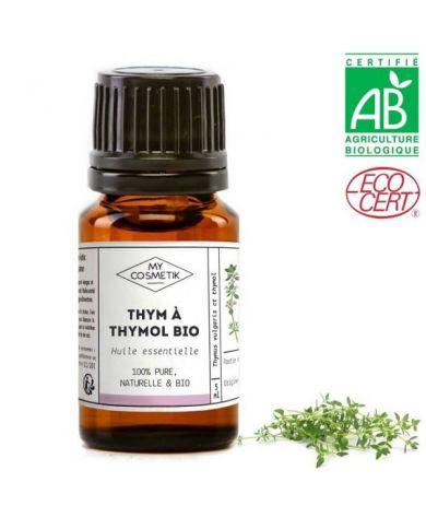 Huile essentielle de thym à thymol BIO (AB) 10 ml - MyCosmetik