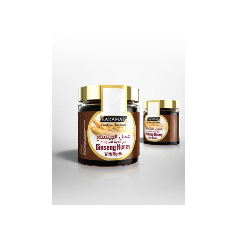Miel de Ginseng et Graine de Nigelle (Habba sawda) 250g - 100% Naturel - Karamats