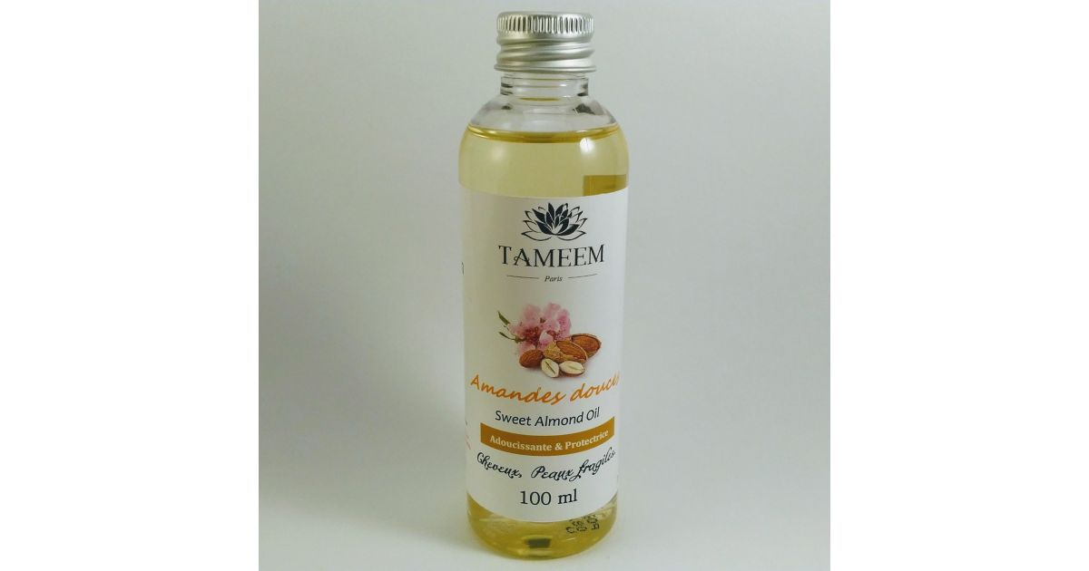 Huile d'Amandes douces (Almond Oil) - 100 ml - 100% Naturelle - Tameem