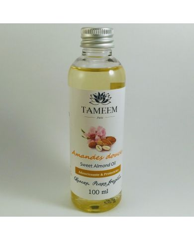 Huile d'Amandes douces (Almond Oil) - 100 ml - 100% Naturelle - Tameem