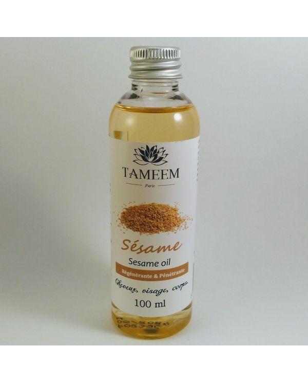 Huile de Sésame (Sesame Oil) - 100 ml - 100% Naturelle - Tameem
