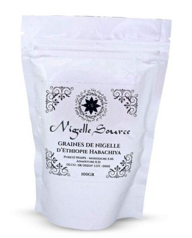 Graines de Nigelle d'Éthiopie (Habachiya) - 100% Naturelles - 100g - Nigelle Source