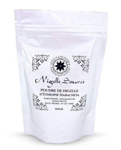Poudre de Graines de Nigelle d'Éthiopie (Habachiya) - 100% Naturelles - 100g - Nigelle Source
