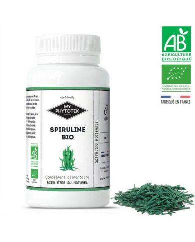 Gélules de Spiruline Bio - 200 gélules de 400mg - MyPhytotek